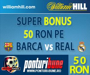 William Hill: 50 RON pe El Classico
