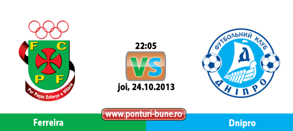 Ferreira vs Dnipro – Europa League – Analiza si pronostic