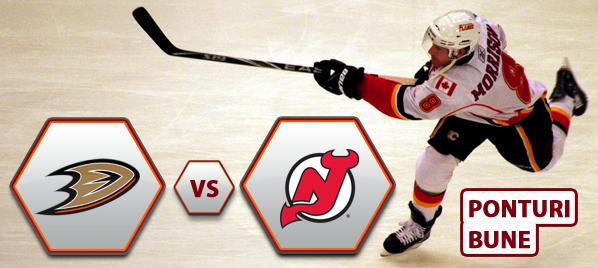 Anaheim Ducks vs New Jersey Devils – NHL – Analiza si pronostic