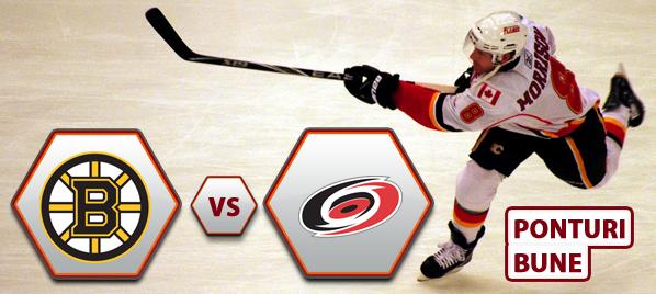 Boston Bruins vs Carolina Hurricanes – NHL – Analiza si pronostic
