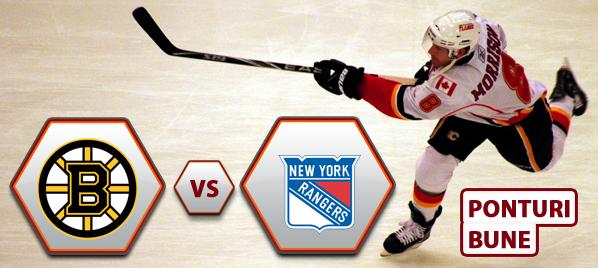 Boston Bruins vs New York Rangers – NHL – Analiza si pronostic