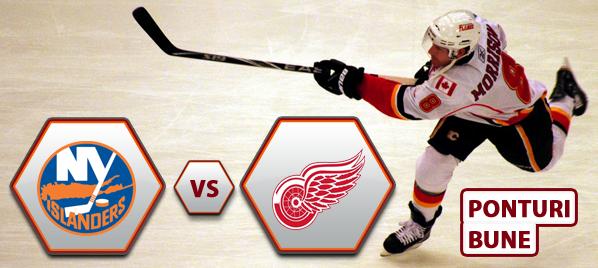 New York Islanders vs Detroit Red Wings – NHL – Analiza si pronostic