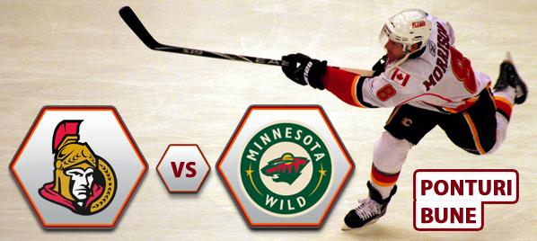 Ottawa Senators vs Minnesota Wild – NHL – Analiza si pronostic
