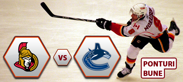 Ottawa Senators vs Vancouver Canucks – NHL – Analiza si pronostic