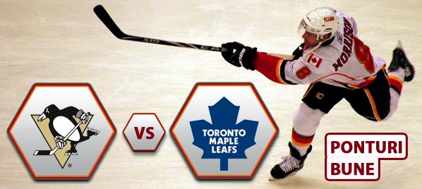 Pittsburgh Penguins vs Toronto Maple Leafs – NHL – Analiza si pronostic