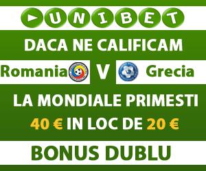 UniBet – Bonus dublu daca ne calificam la Cupa Mondiala