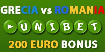 UniBet – 200 euro la Grecia – Romania