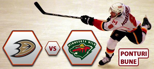 Anaheim Ducks vs Minnesota Wild – NHL – Analiza si pronostic