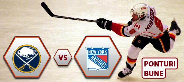 Buffalo Sabres vs New York Rangers – NHL – Analiza si pronostic