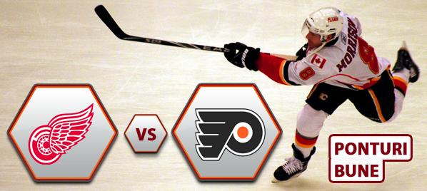 Detroit Red Wings vs Philadelphia Flyers – NHL – Analiza si pronostic