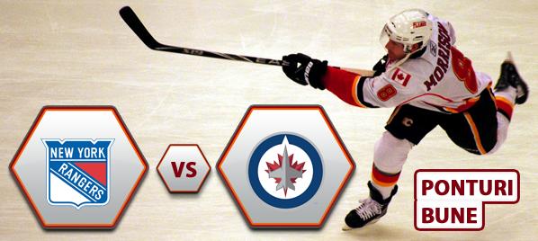 New York Rangers vs Winnipeg Jets – NHL – Analiza si pronostic