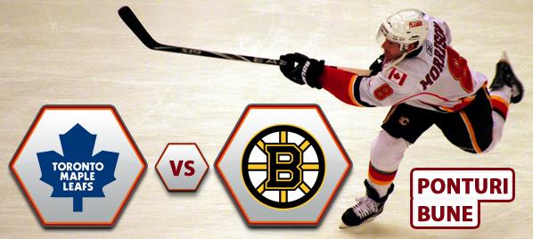Toronto Maple Leafs vs Boston Bruins – NHL – Analiza si pronostic