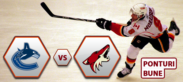 Vancouver Canucks vs Phoenix Coyotes – NHL – Analiza si pronostic