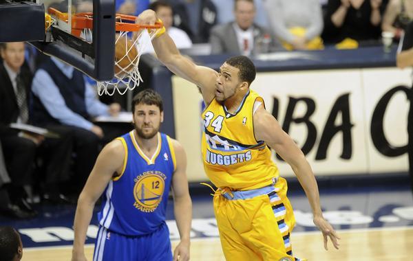 Denver Nuggets vs Golden State Warriors in Denver, Colorado.