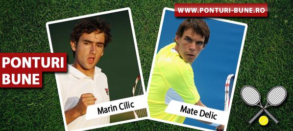 Marin Cilic vs Mate Delic – ATP Zagreb – Analiza si pronostic