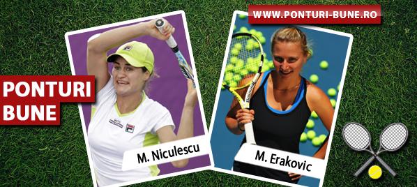 Monica Niculescu vs Marina Erakovic – WTA Indian Wells – Analiza si pronostic