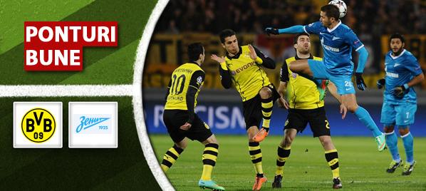 Dortmund vs Zenit – Liga Campionilor – Analiza si pronostic