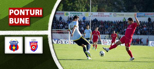 Steaua vs Botosani – Liga 1 – Analiza si pronostic