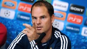 Ajax Amsterdam's coach Frank De Boer giv