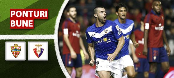 Almeria vs Osasuna – Primera Division – Analiza si pronostic