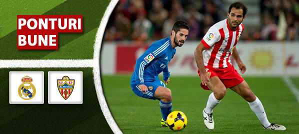 Real Madrid vs Almeria – Primera Division – Analiza si pronostic