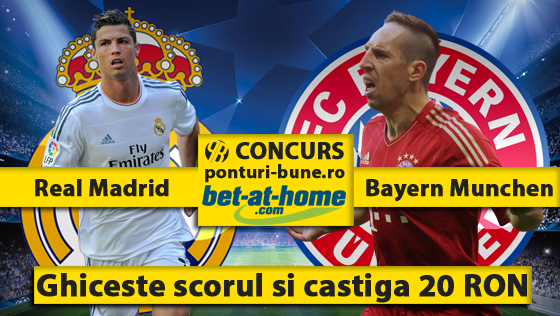 real madrid vs bayern concurs promo