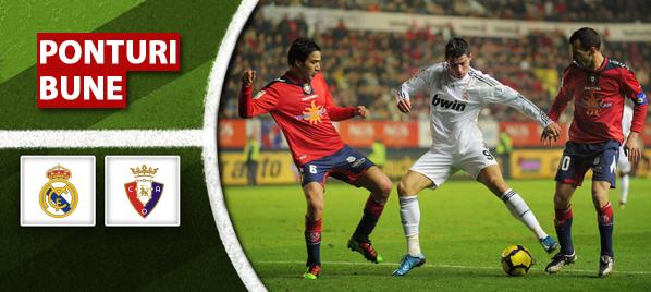 Real Madrid vs Osasuna – Primera Division – Analiza si pronostic