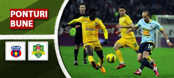 Steaua vs Vaslui – Liga 1 – Analiza si pronostic