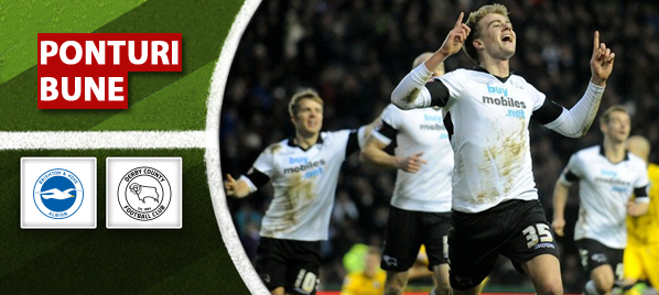 Brighton vs Derby – Championship – Analiza si pronostic