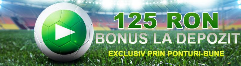Special bonus la Unibet de 125 RON exclusiv prin Ponturi-Bune