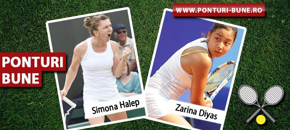 Simona Halep vs Zarina Diyas – Wimbledon – Analiza si pronostic
