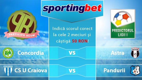 Predictorul Ligii 1 la Sportingbet – Castiga 50 RON