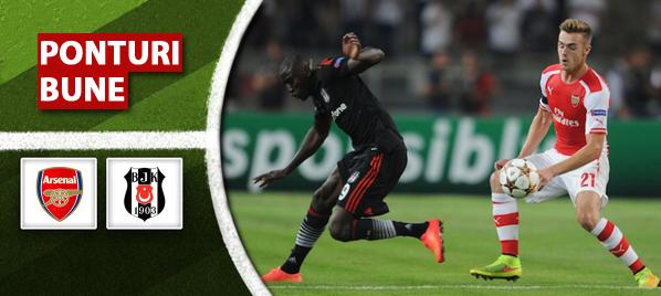 Arsenal vs Besiktas–Champions League–analiza si pronostic–Radu