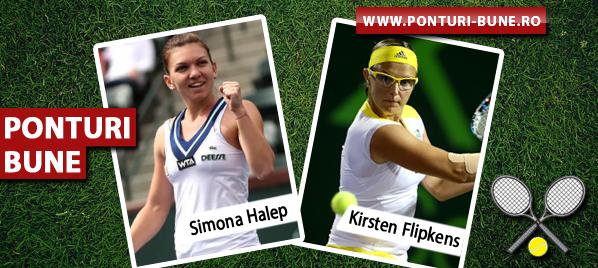 Simona Halep vs Kirsten Flipkens – Cincinnati – Analiza si pronostic