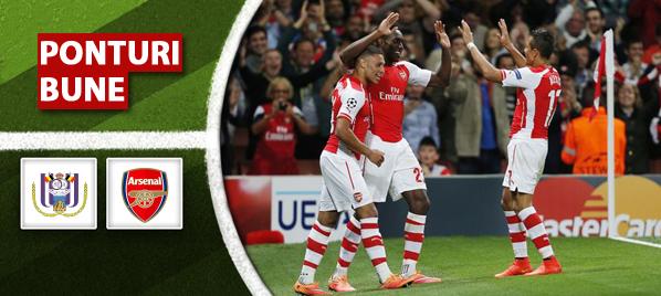 Anderlecht vs Arsenal – Champions League – Analiza si pronostic
