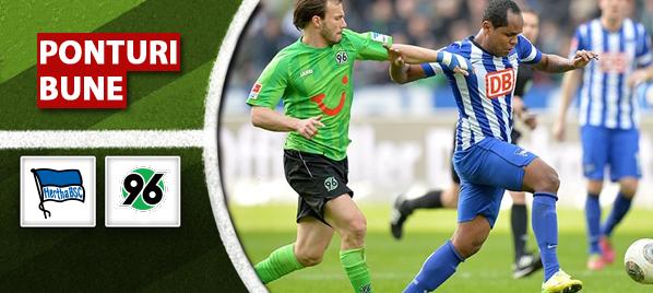Hertha vs Hannover - Bundesliga - Analiza si pronostic