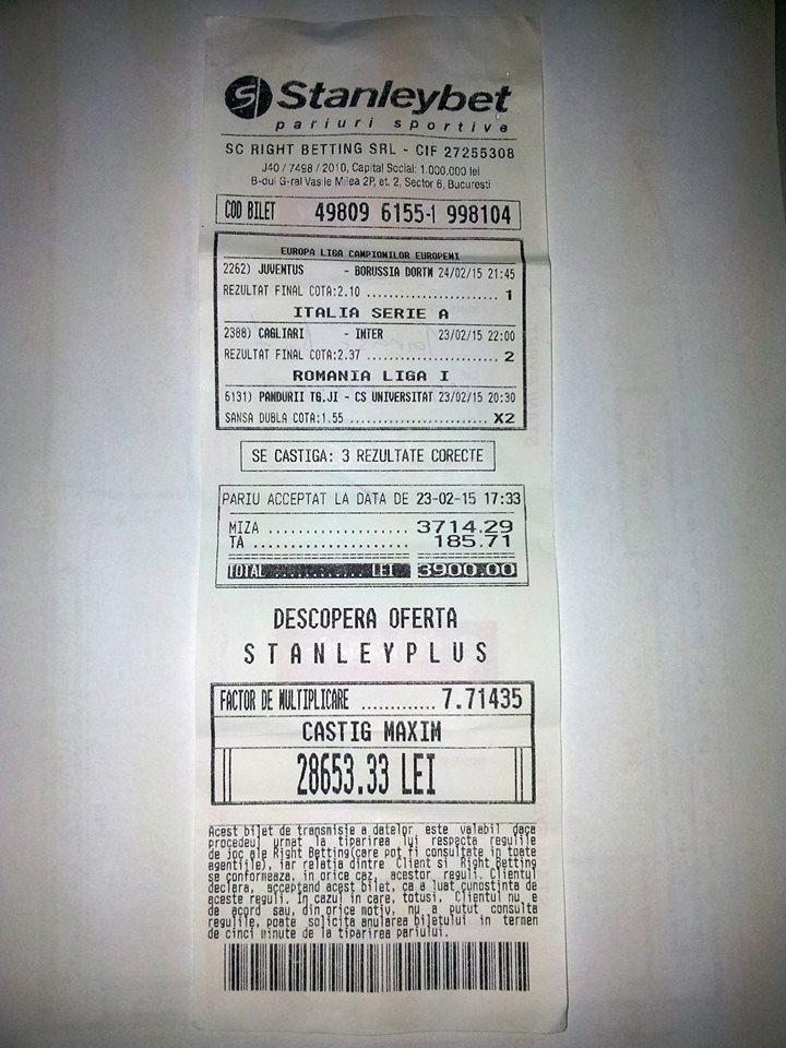 Bilete Pariuri : Lovitura la pariuri !
