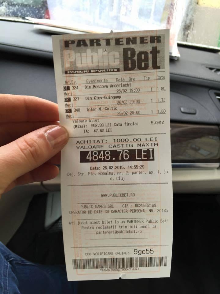 Bilete Pariuri : Mihai pregatit pentru Europa League !