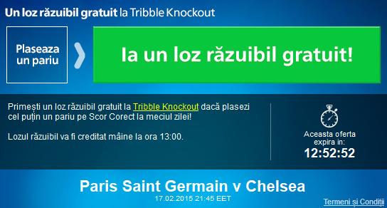 Pariaza pe meciul dintre PSG si Chelsea si ia un loz razuibil gratuit