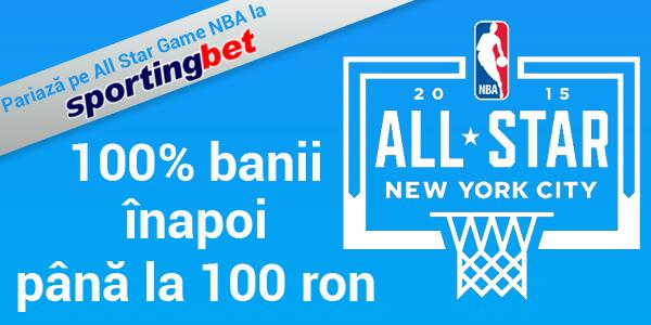 Sportingbet: 100 RON pariu GRATUIT – NBA all star game