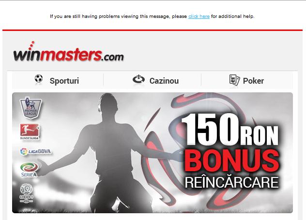 Bonusuri Pariuri : 150 RON Bonus de reincarcare
