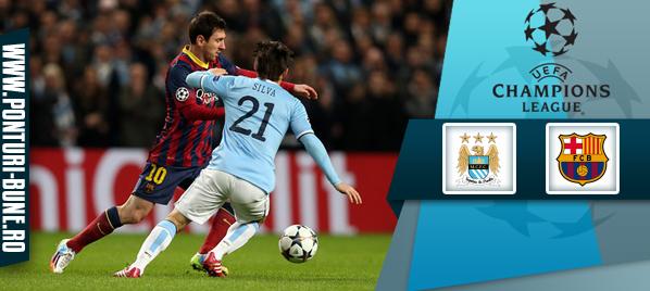 Manchester City vs Barcelona – Champions League – analiza si pronostic