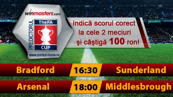 Predictorul FA Cup la Winmasters – castiga 100 ron