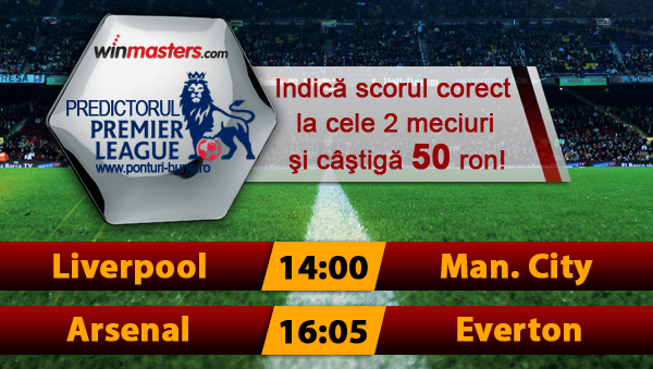 Predictorul Premier League la Winmasters - castiga 50 ron