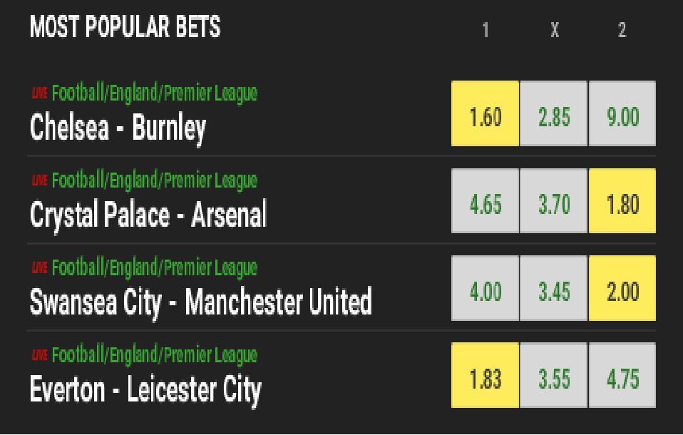 Biletul zilei: Duel la distanta in Premier League