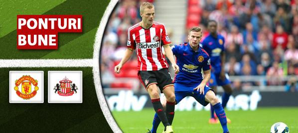 Manchester United vs Sunderland – Premier League – analiza si pronostic