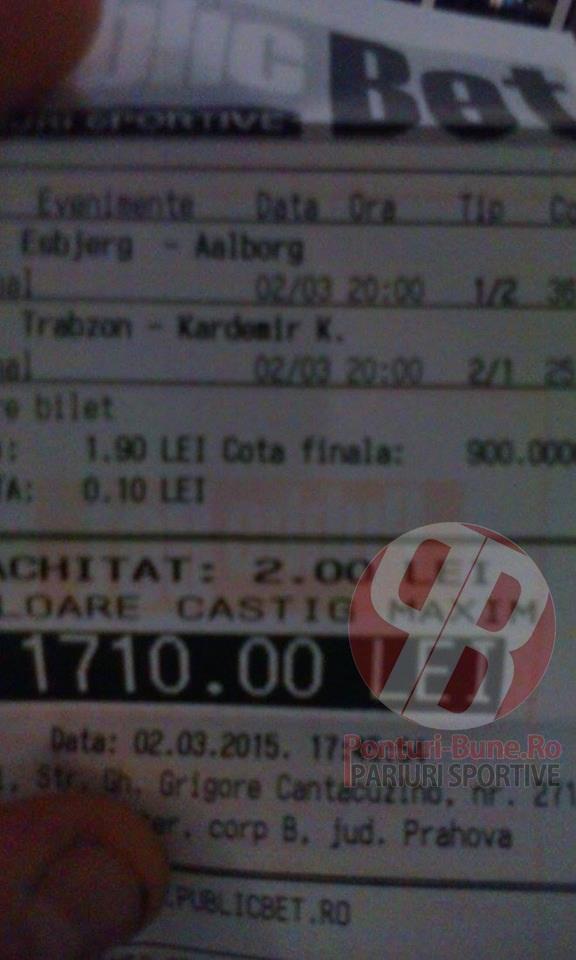 Bilete Pariuri : Turcii au facut pariorii fericiti !
