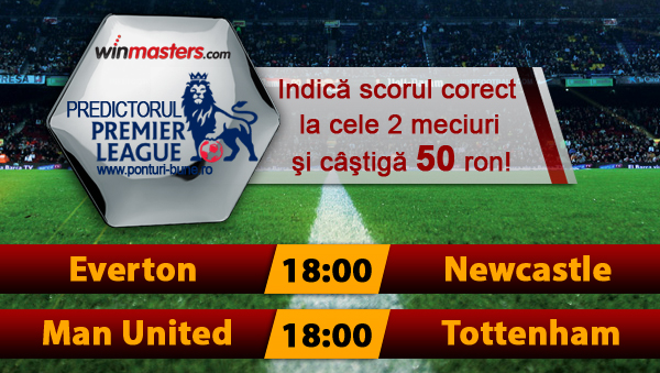Predictorul Premier League la Winmasters – castiga 50 ron