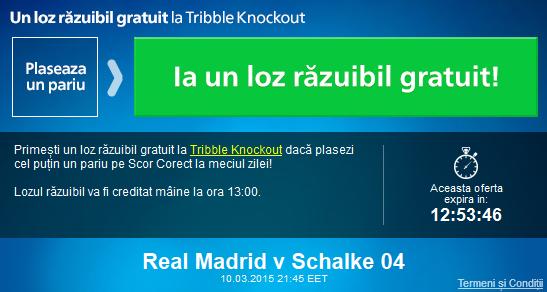 Pariaza pe Real Madrid – Schalke si ia un loz razuibil gratuit la Sportingbet
