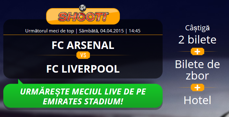 Castiga o excursie la Londra pentru meciul Arsenal vs Liverpool